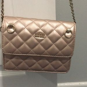 GUESS pink cross body purse never used
